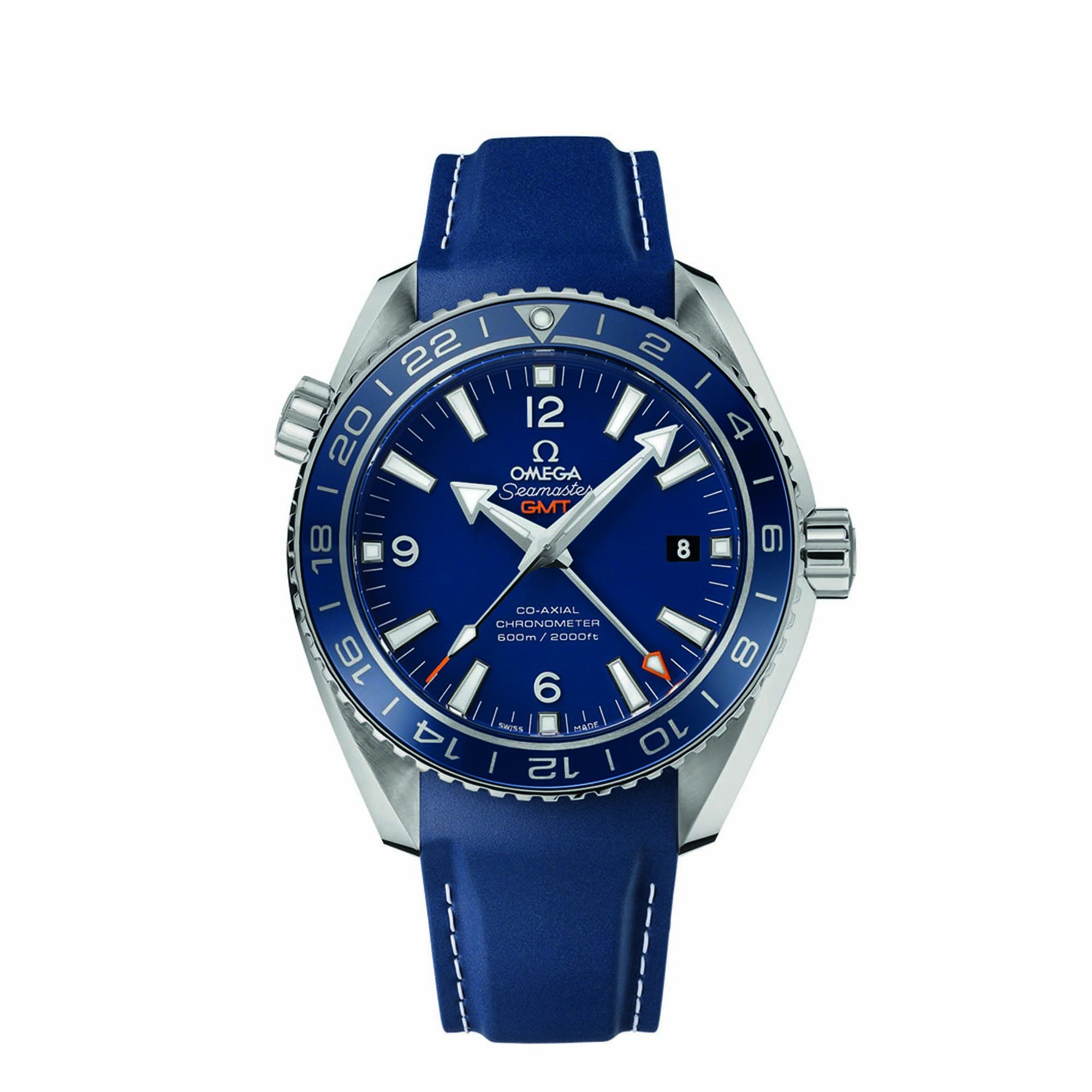 Planet Ocean 600M Omega Co-axial GMT 43.5 MM