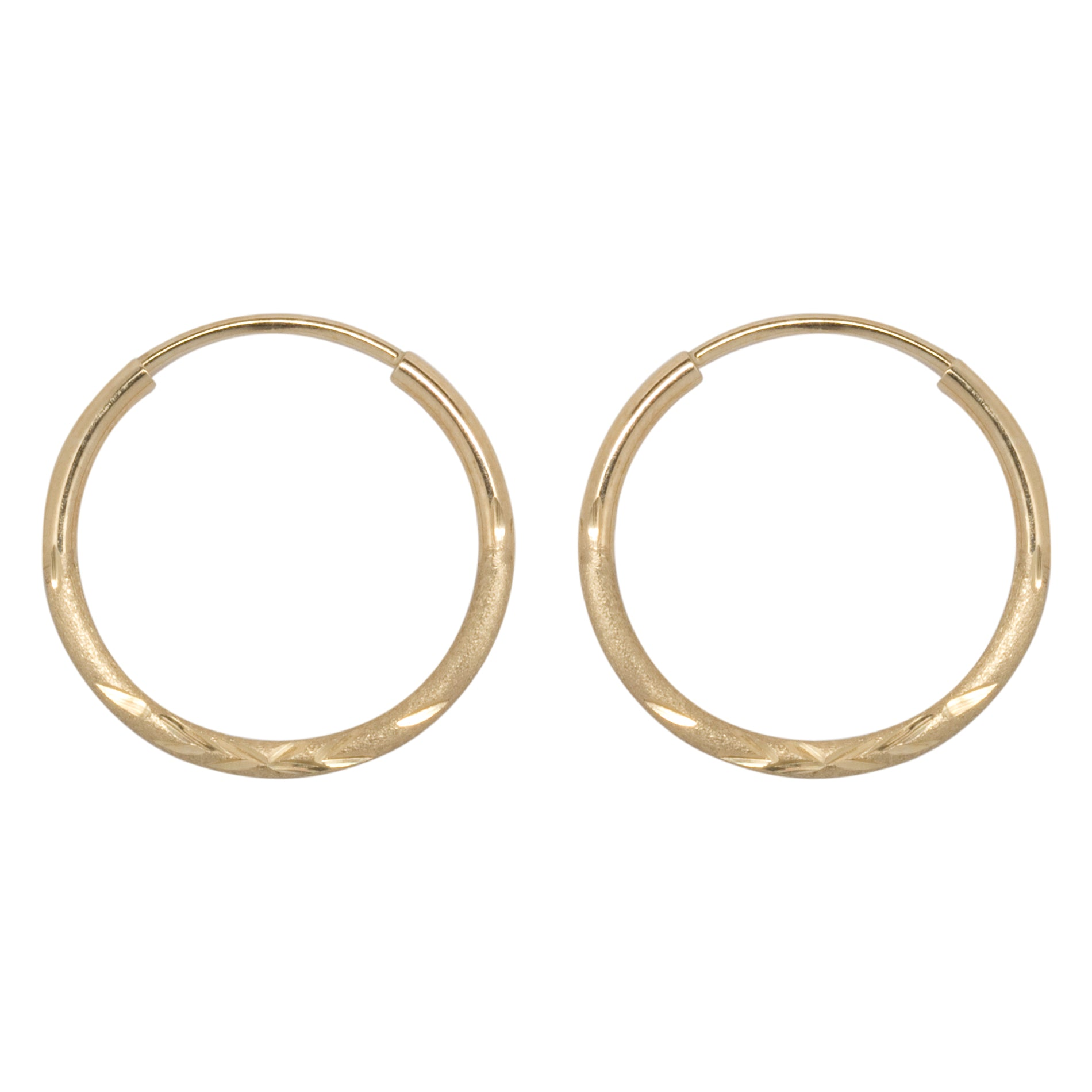 gold diamond consignment earrings hoop upscale