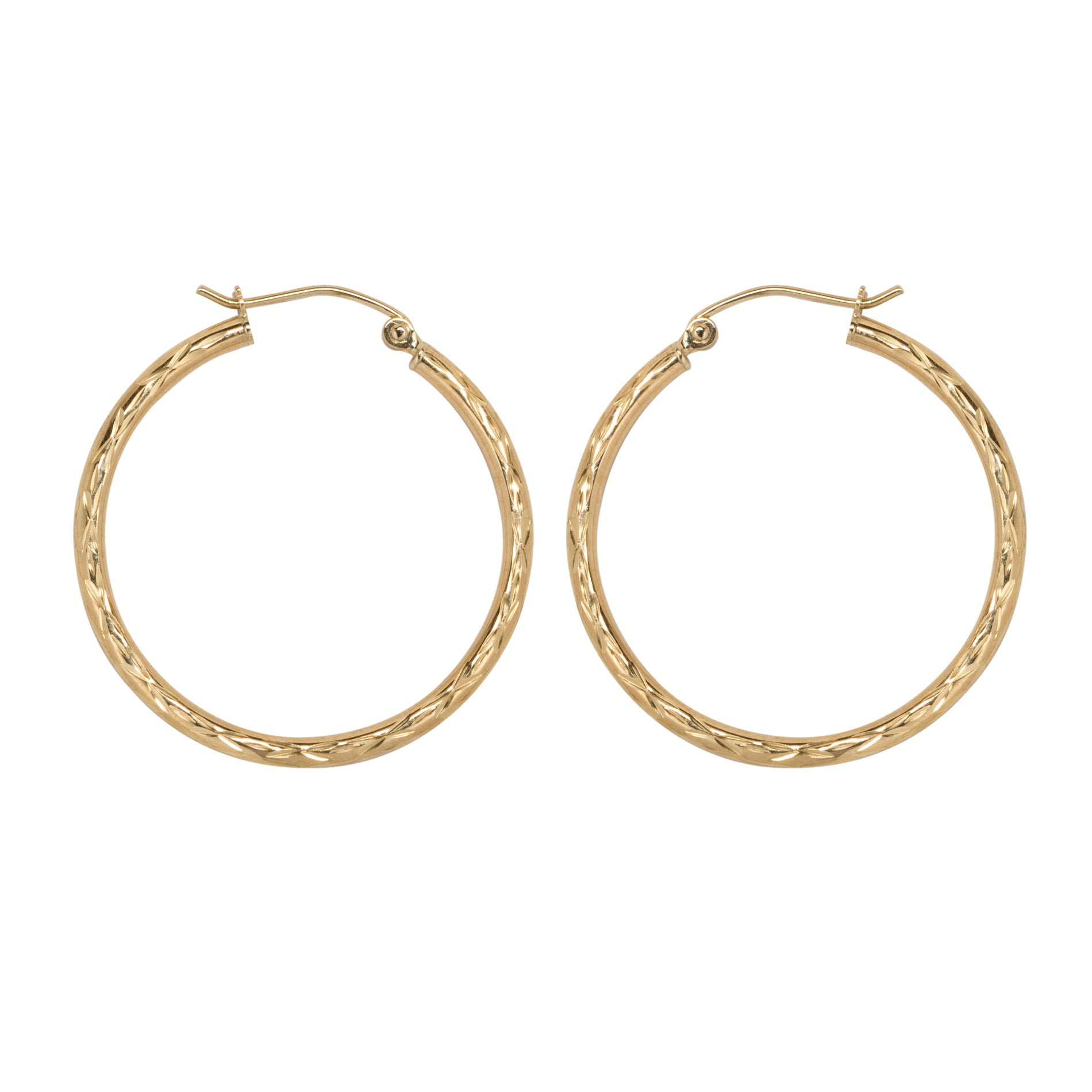 gold today mm mondevio shipping earrings overstock round watches jewelry hoop product free