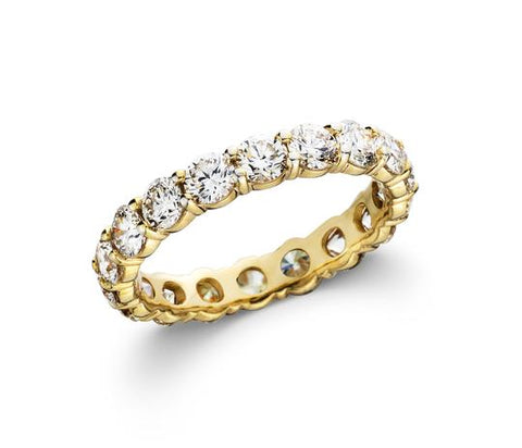 2 1/2 CT. TW Lab-Grown Diamond 14K Yellow Gold Eternity Band