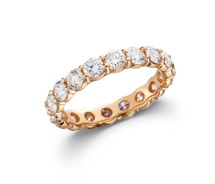 2 1/2 CT. TW Lab-Grown Diamond 14K Rose Gold Eternity Band