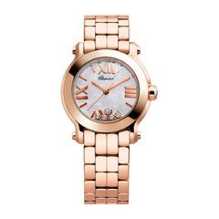 HAPPY SPORT MOTHER OF PEARL DIAL FLOATING DIAMOND WATCH