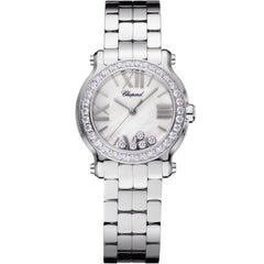 HAPPY SPORT 30 MM WATCHSTAINLESS STEEL AND DIAMONDS
