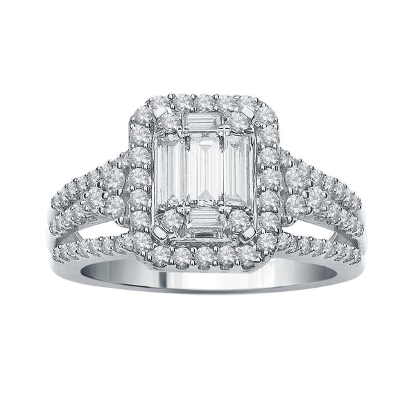 Diamond Bridal Set 14k White Gold (1 ct. tw.)