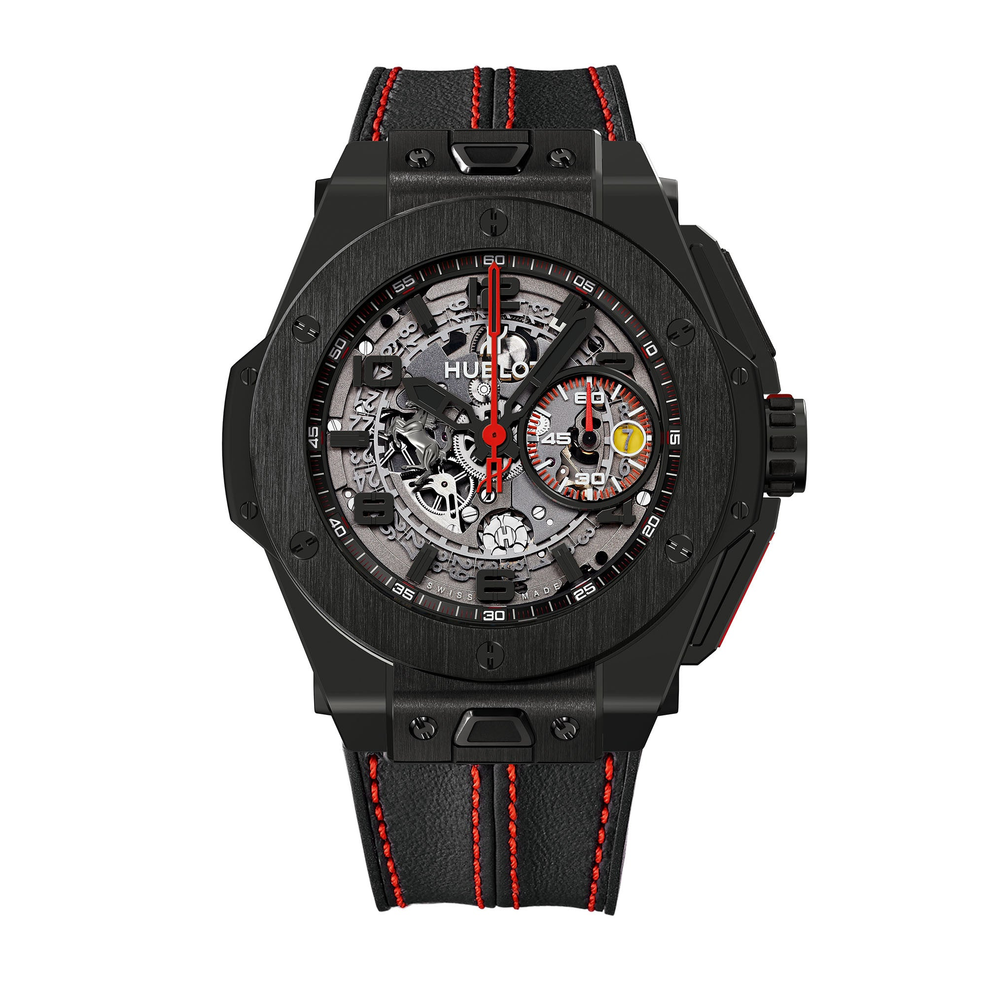 Ferrari All Black LIMITED Automatic Openwork Dial Black Ceramic Men's Watch