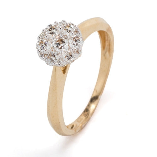 Diamond Cluster Ring 14k Yellow Gold (0.50 ct. tw.)