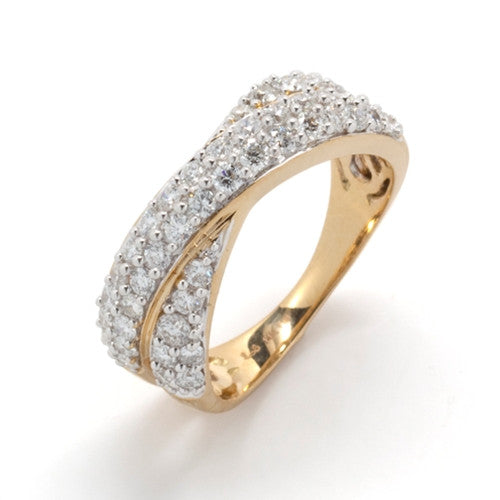 61438dcec98 Crossover Diamond Band 14k Yellow Gold (1 ct. tw.) – Little Switzerland