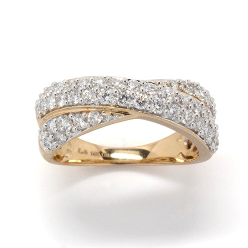 Crossover Diamond Band 14k Yellow Gold (1 ct. tw.)