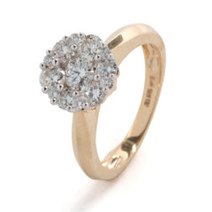 Diamond Cluster Ring 14k Yellow Gold (1 ct. tw.)