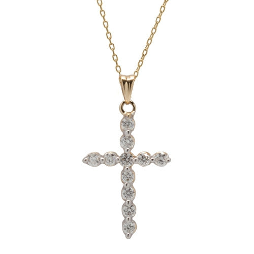 Diamond Cross Necklace 14k White Gold (0.25 ct. tw.)