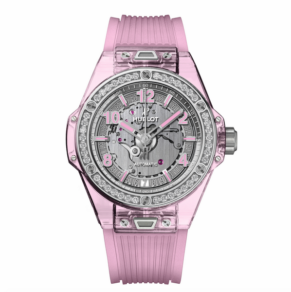 Big Bang One Click Pink Sapphire Diamonds 39 mm