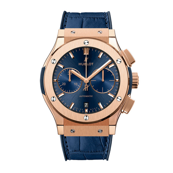 Classic Fusion Blue Sunray Dial 18K King Gold Automatic Men's Watch