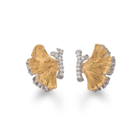 BUTTERFLY GINKGO HALF EARRINGS