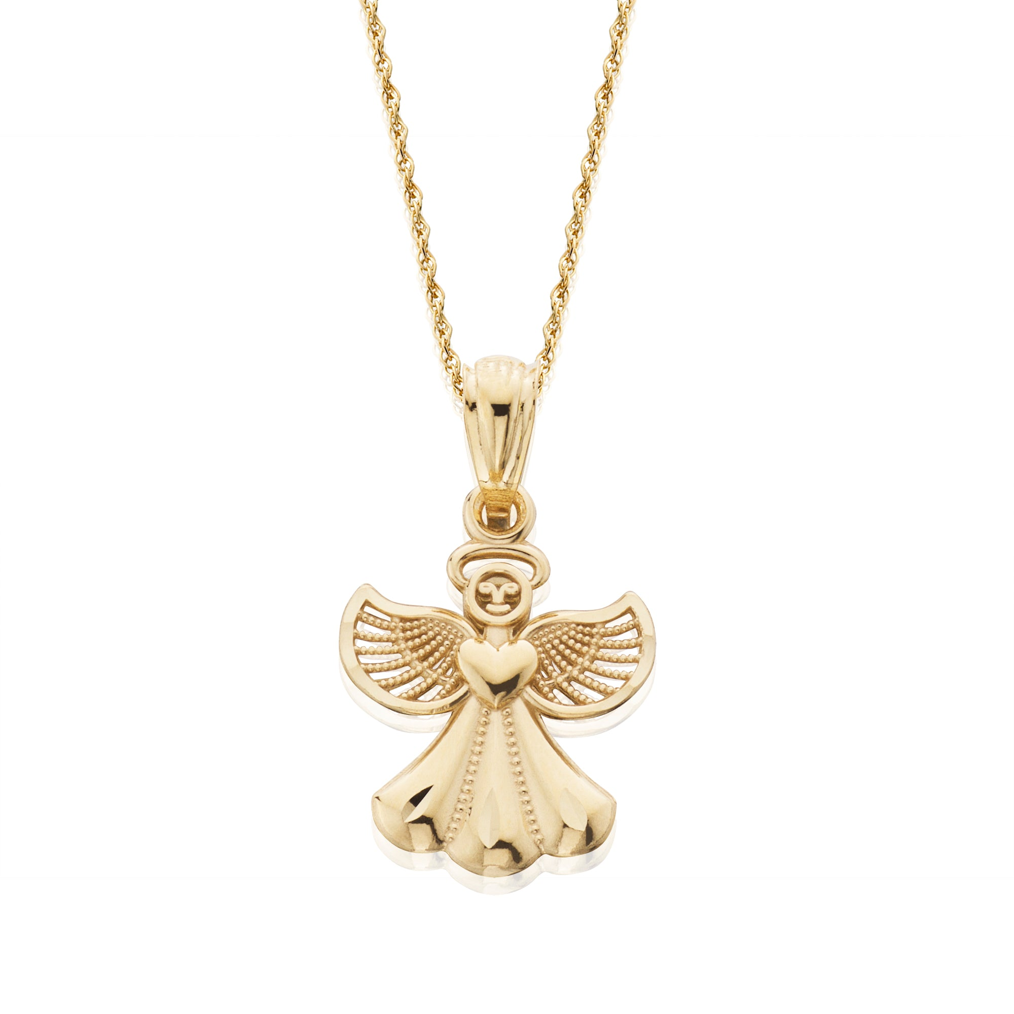 pendant gemstone pendants angel white tanzanite gold