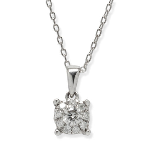 Diamond Necklace 14k White Gold (0.25 ct. tw.)