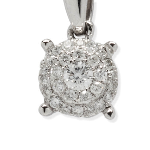 Diamond Necklace Double Row 14k White Gold (0.25 ct. tw.)