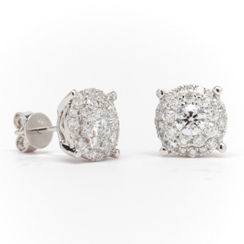 Diamond Stud Earrings 14k White Gold (1.50 ct. tw.)