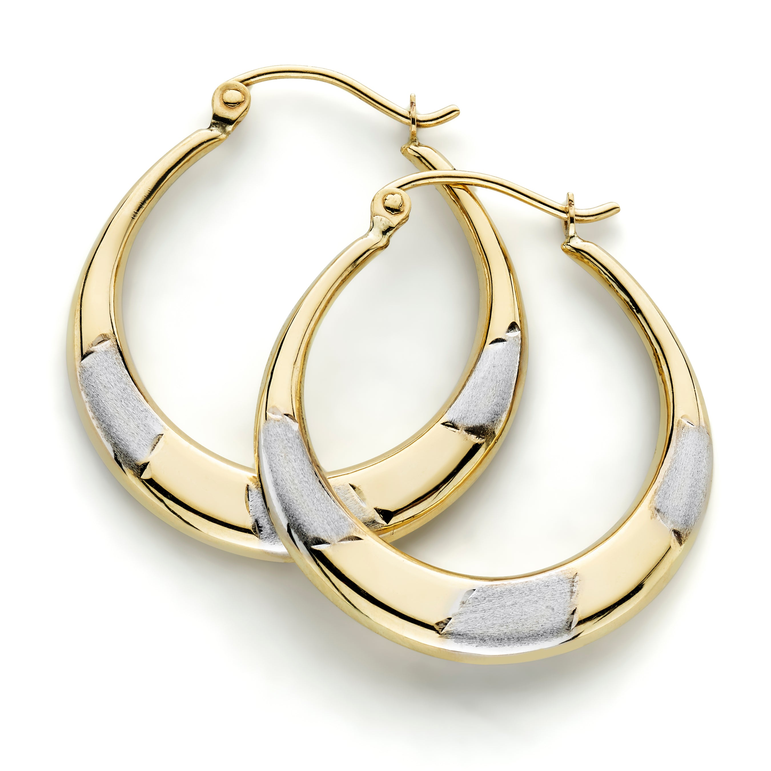 hoop in v stone view earrings three oval zirconia all gold p cubic