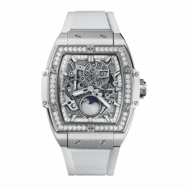 Spirit of Big Bang Moonphase Titanium White Diamonds 42 mm