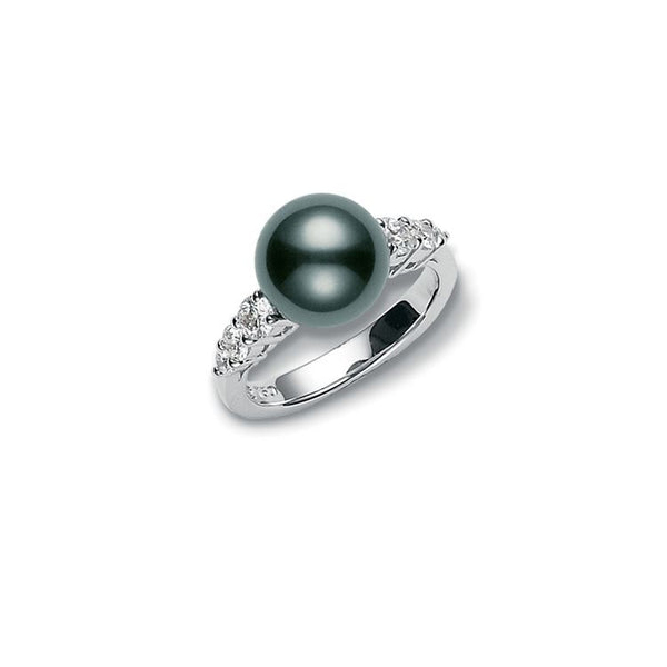 Black South Sea Morning Dew Ring