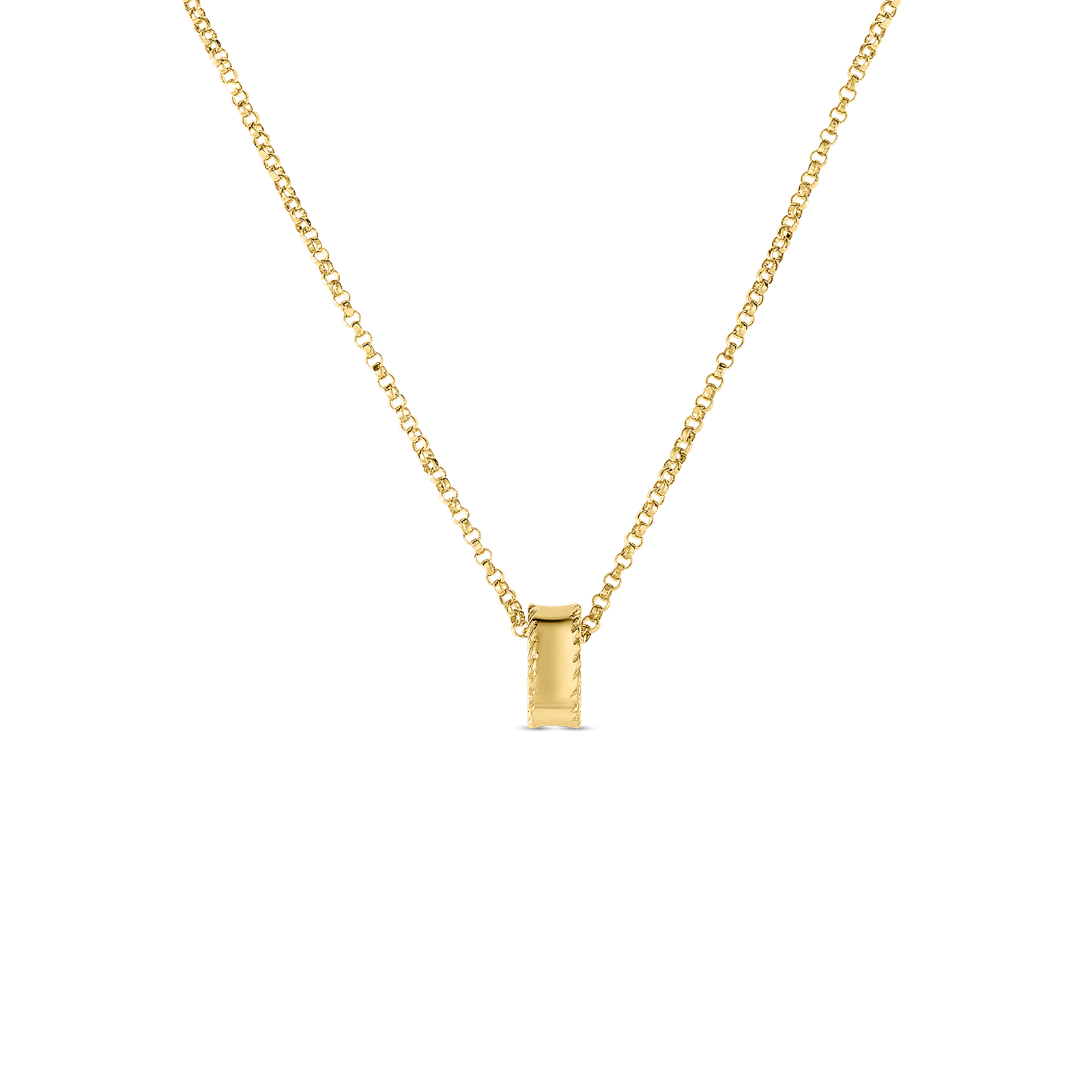 18K Yellow Gold Princess Rondel Pendant