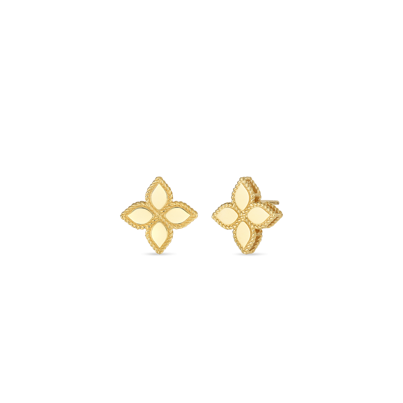 18K Yellow Gold Medium Stud Earrings