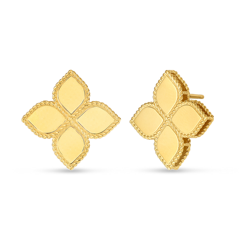 18K Yellow Gold Large Stud Earrings