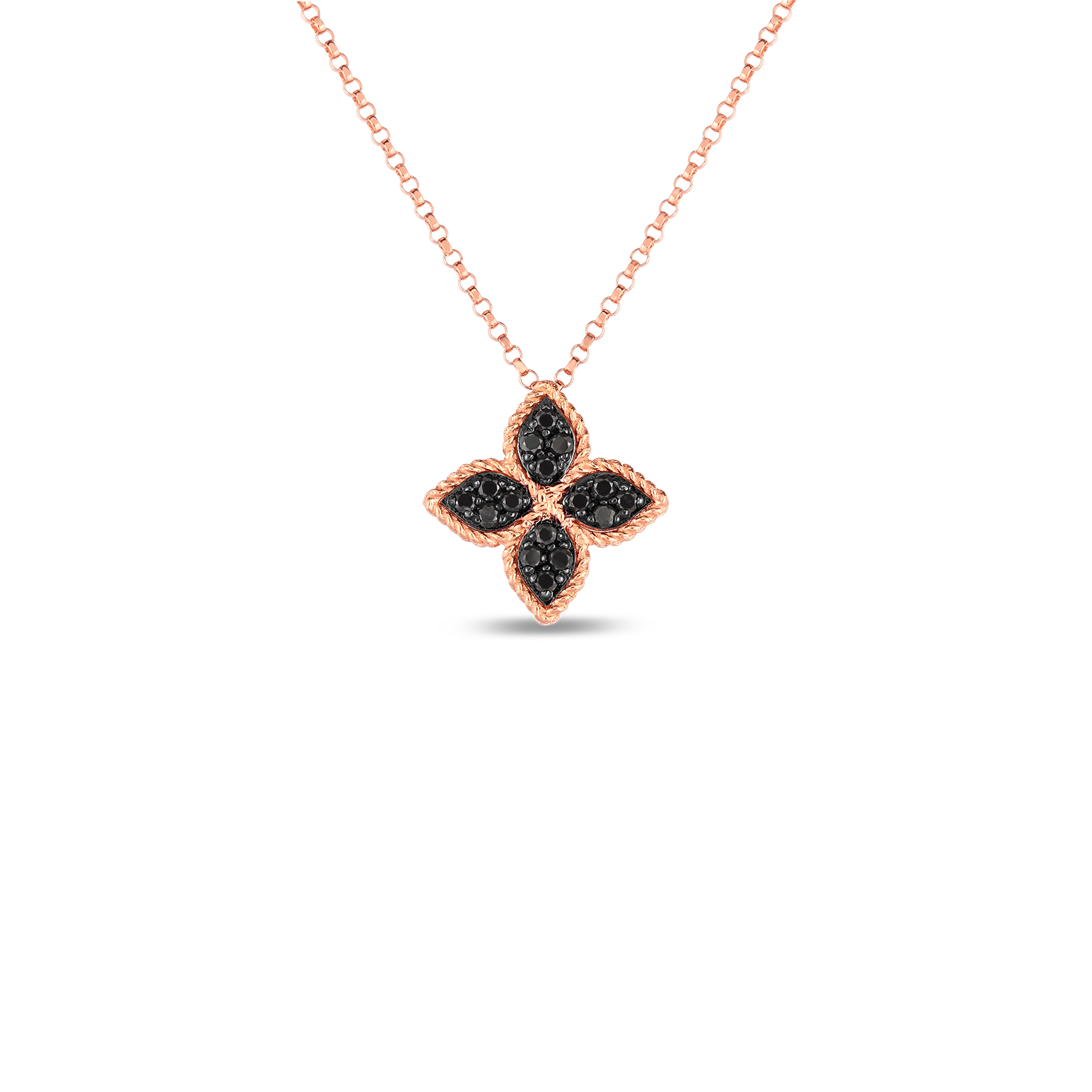 18K Rose Gold Reversible Princess Flower Medium Pendant