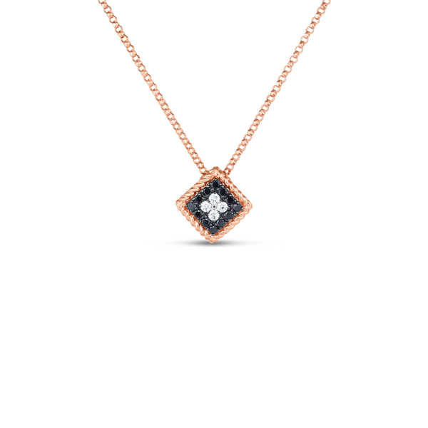 18K Rose Gold Palazzo Ducale Black & White Diamond Small Pendant