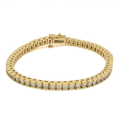 14K Yellow Gold 5.00CTW Diamond Tennis Bracelet