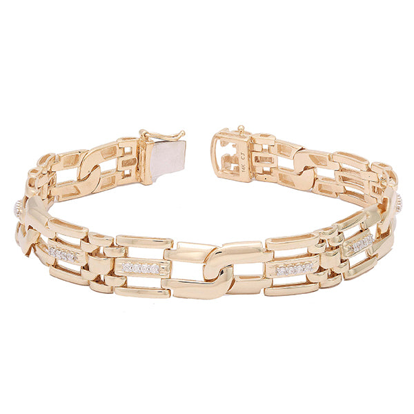 0.50 CTW Gents Fancy Link Diamond Bracelet