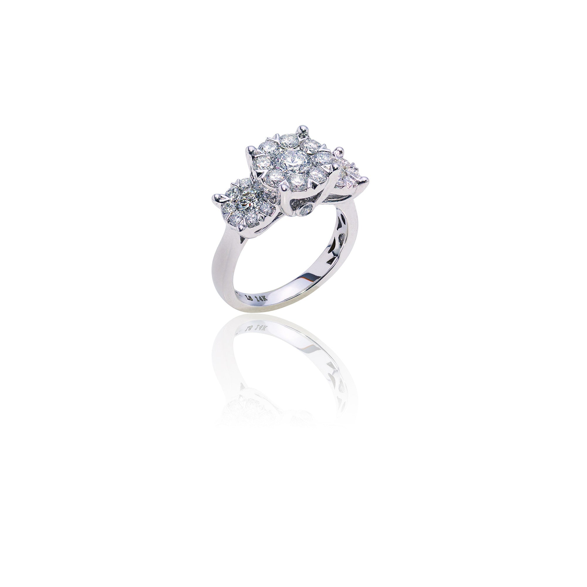 2.00 CTW Diamond Cluster Setting Ring