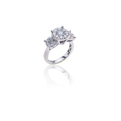 Diamond Cluster Setting Ring