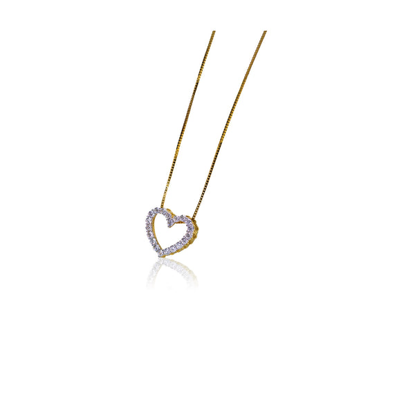 14K Gold 0.25TW Diamond Heart Pedant