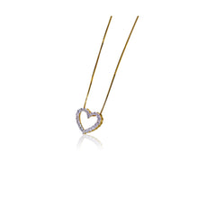 0.25TW DIAMOND HEART PENDANT