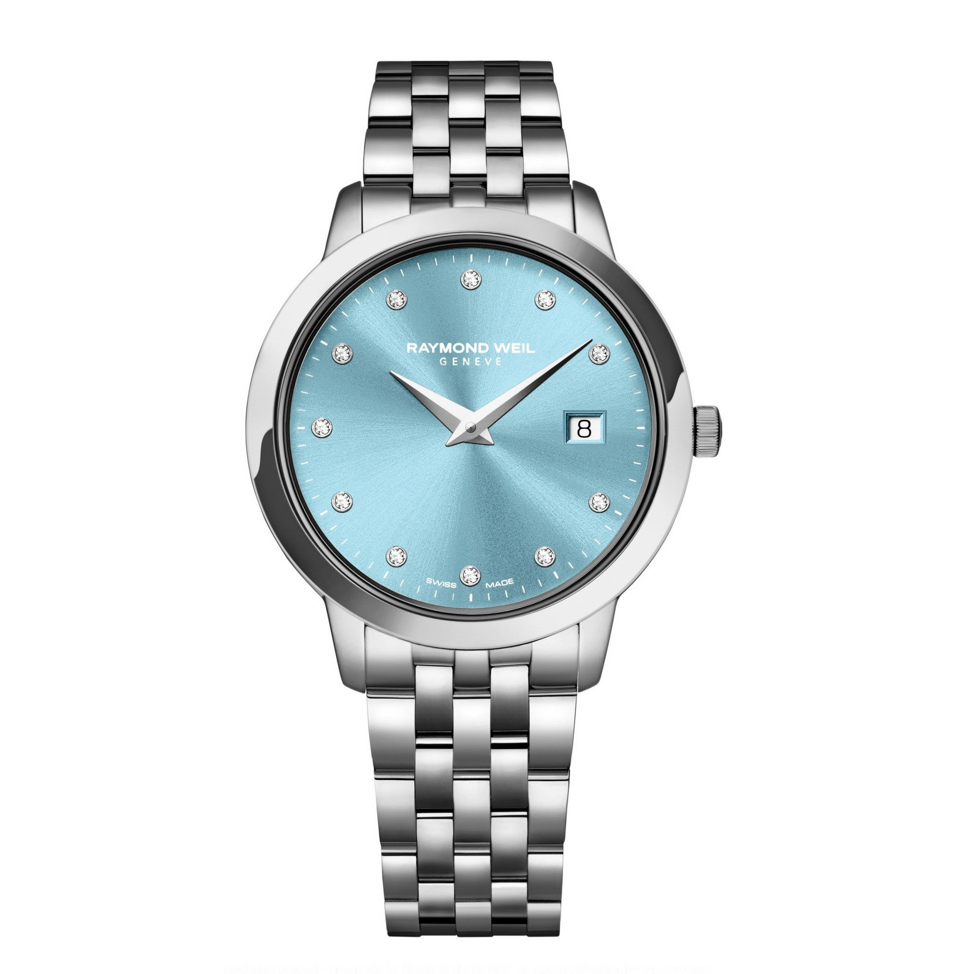Raymond Weil Toccata Little Switzerland Exclusive watch with blue dial
