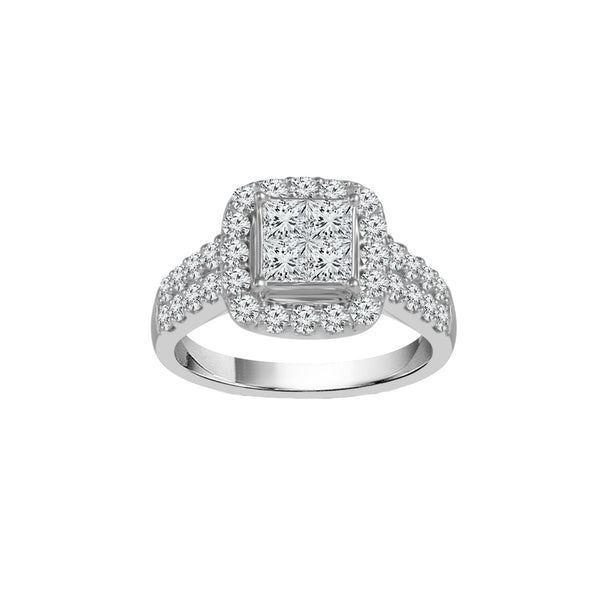 2.00 CTW Diamond Cluster Ring