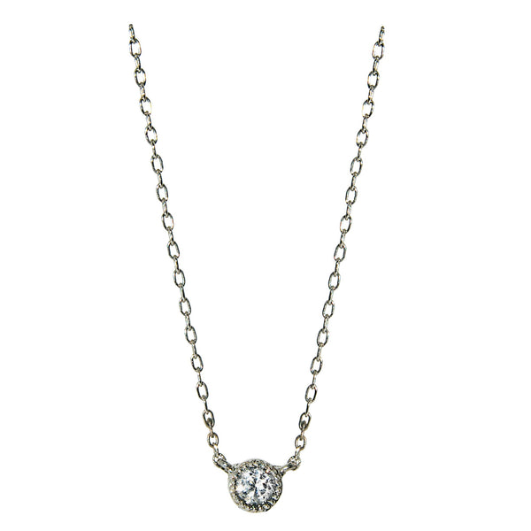 14K Gold 0.20 CTW Diamond Solitaire Necklace