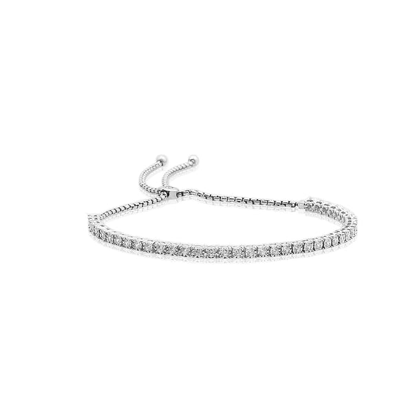 1.00 CTW Bolo Adjustable Diamond Tennis Bracelet