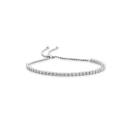 Adjustable Diamond Tennis Bracelet