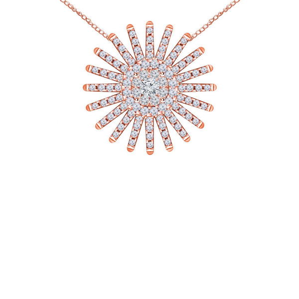 Spark 14K Rose Gold Diamond Pendant (1 ct. tw.)
