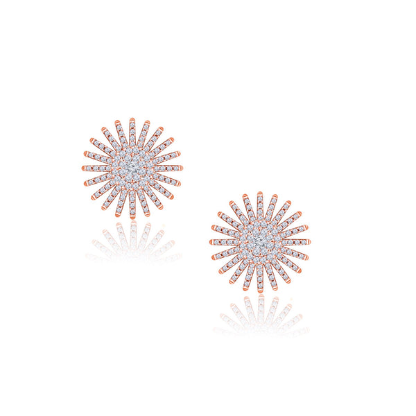 Spark 14K Rose Gold Diamond Earrings (1 ct. tw.)