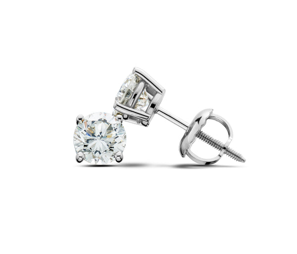 14Kt White Gold 1/2CTTW Lab-Grown Diamond Stud Earrings