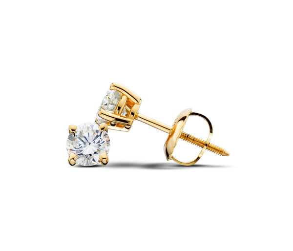 14Kt Yellow Gold 1/2CTTW Lab-Grown Diamond Stud Earrings