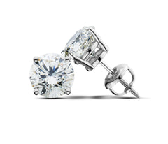 14K White Gold 3.07CT TW Lab Grown  Diamond Stud Earrings