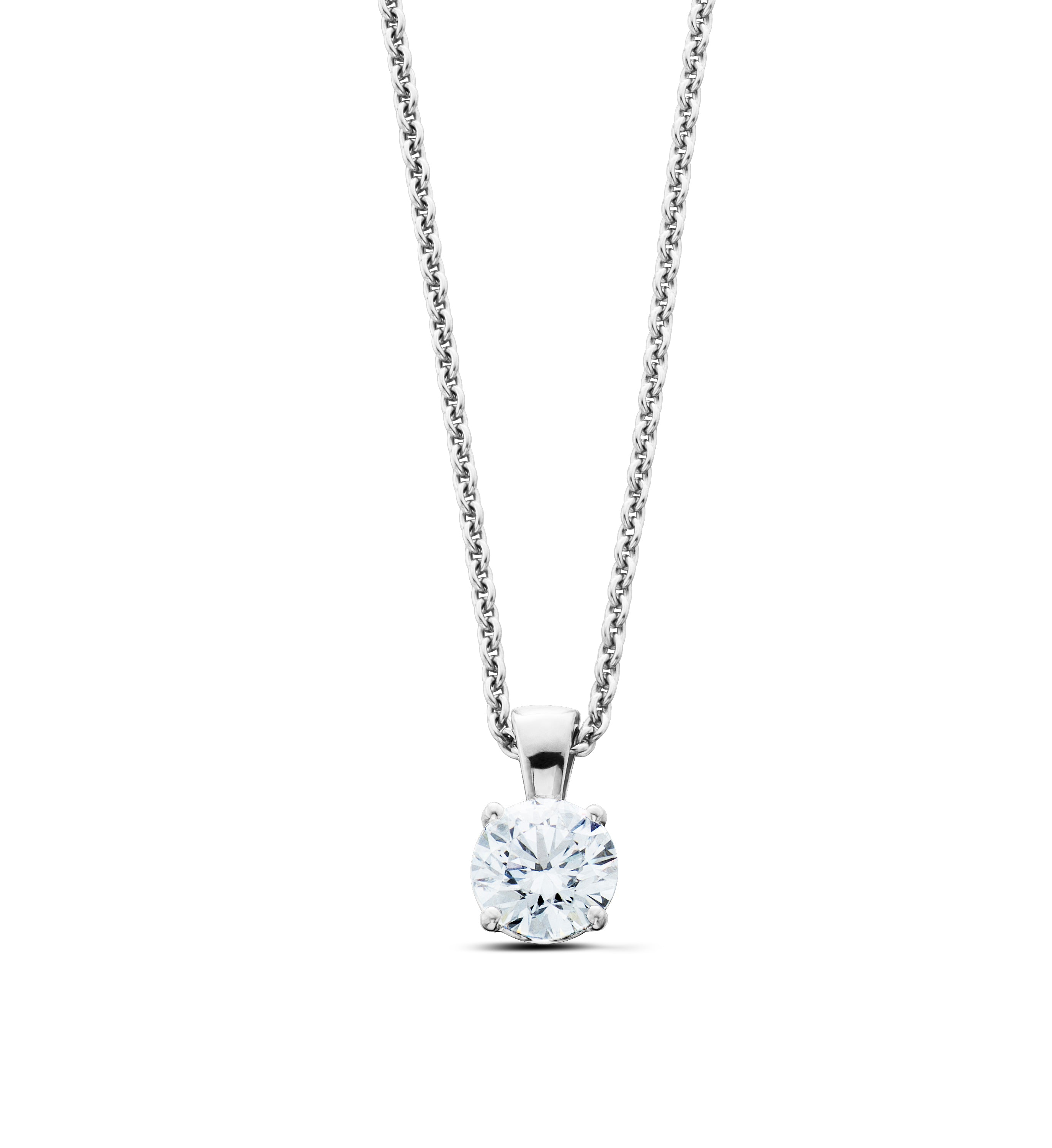 14K Gold 0.75CT Lab-Grown Diamond Solitaire Pendant