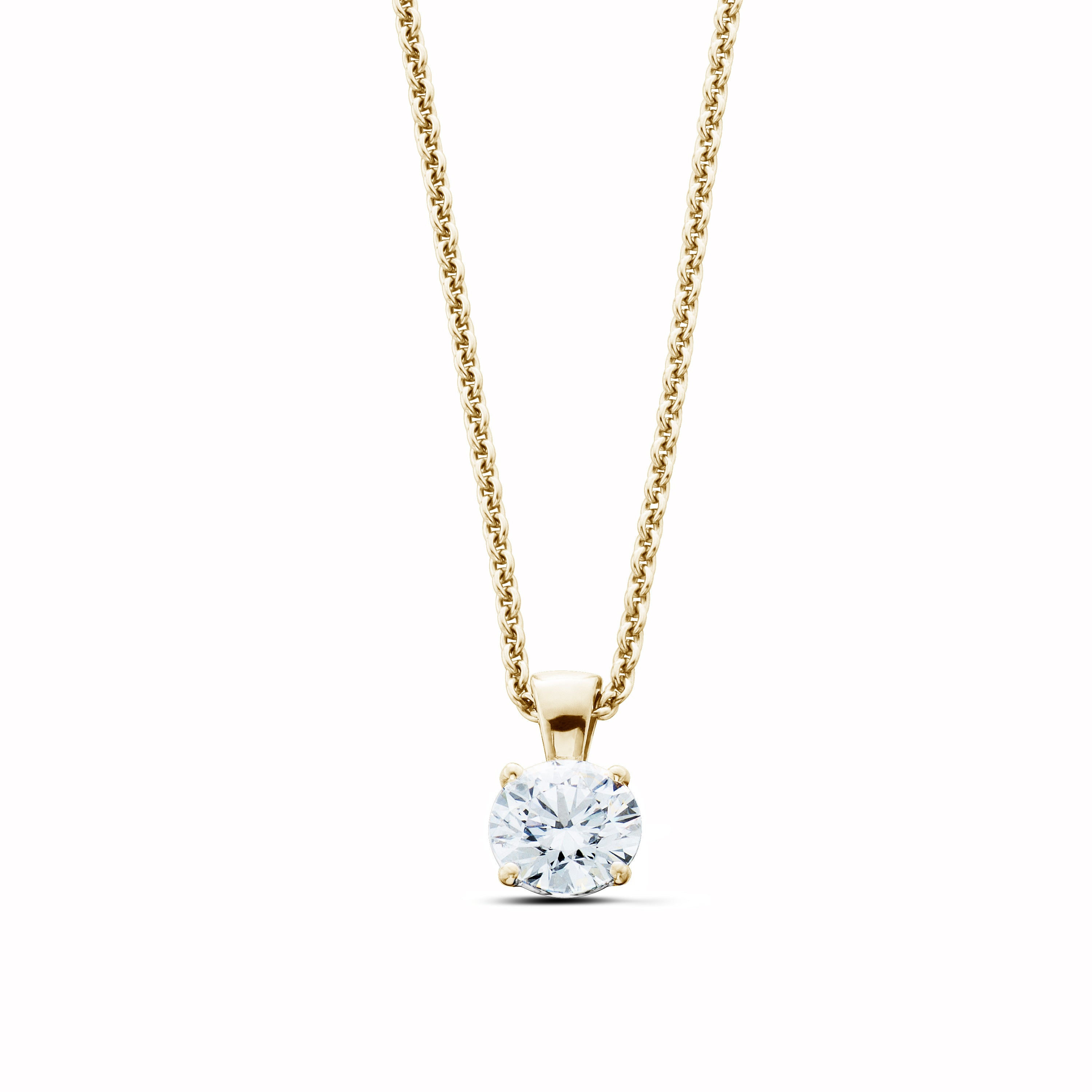 14K Gold 1.00CT Lab-Grown Diamond Solitaire Pendant