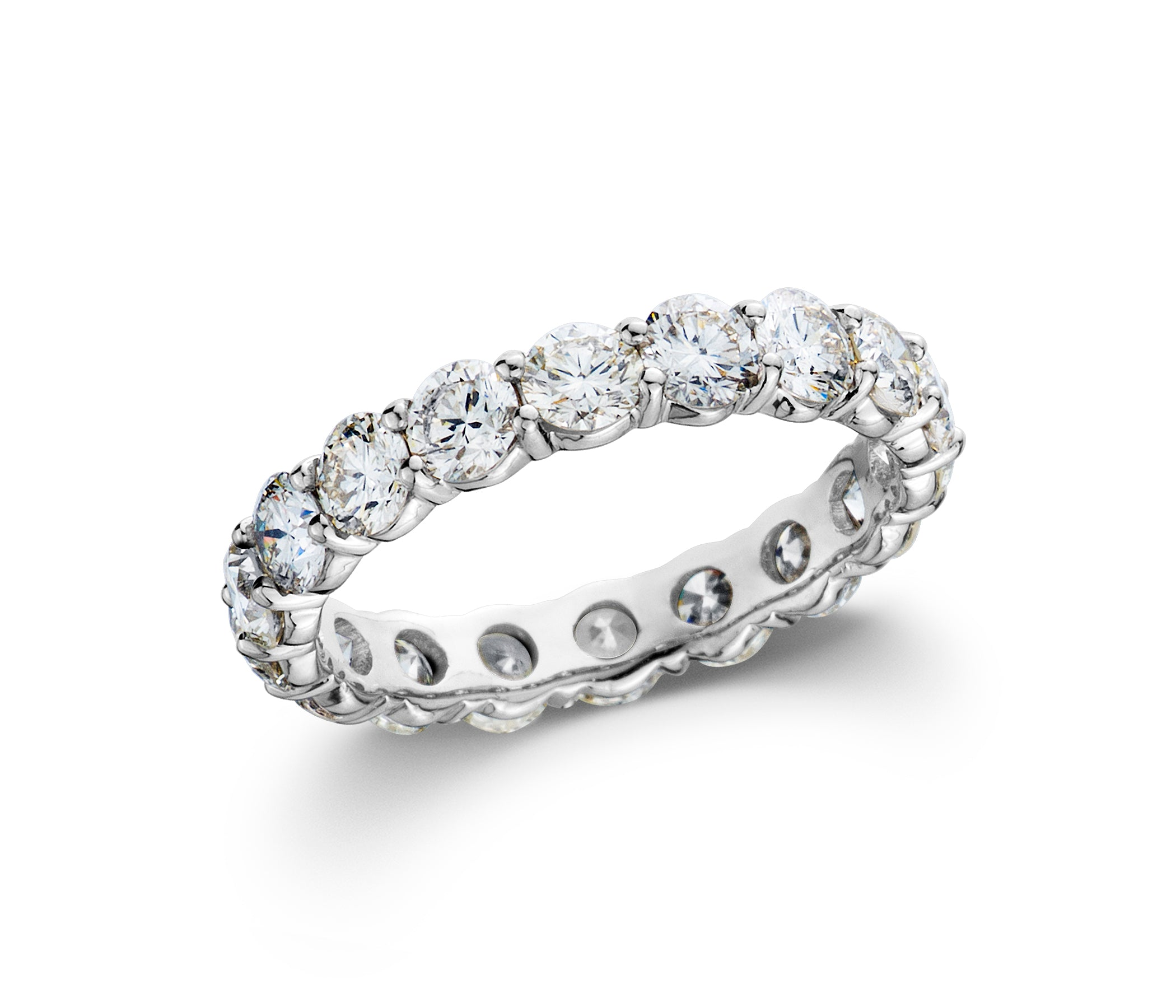 2 1/2 CT. TW Lab-Grown Diamond 14K White Gold Eternity Band
