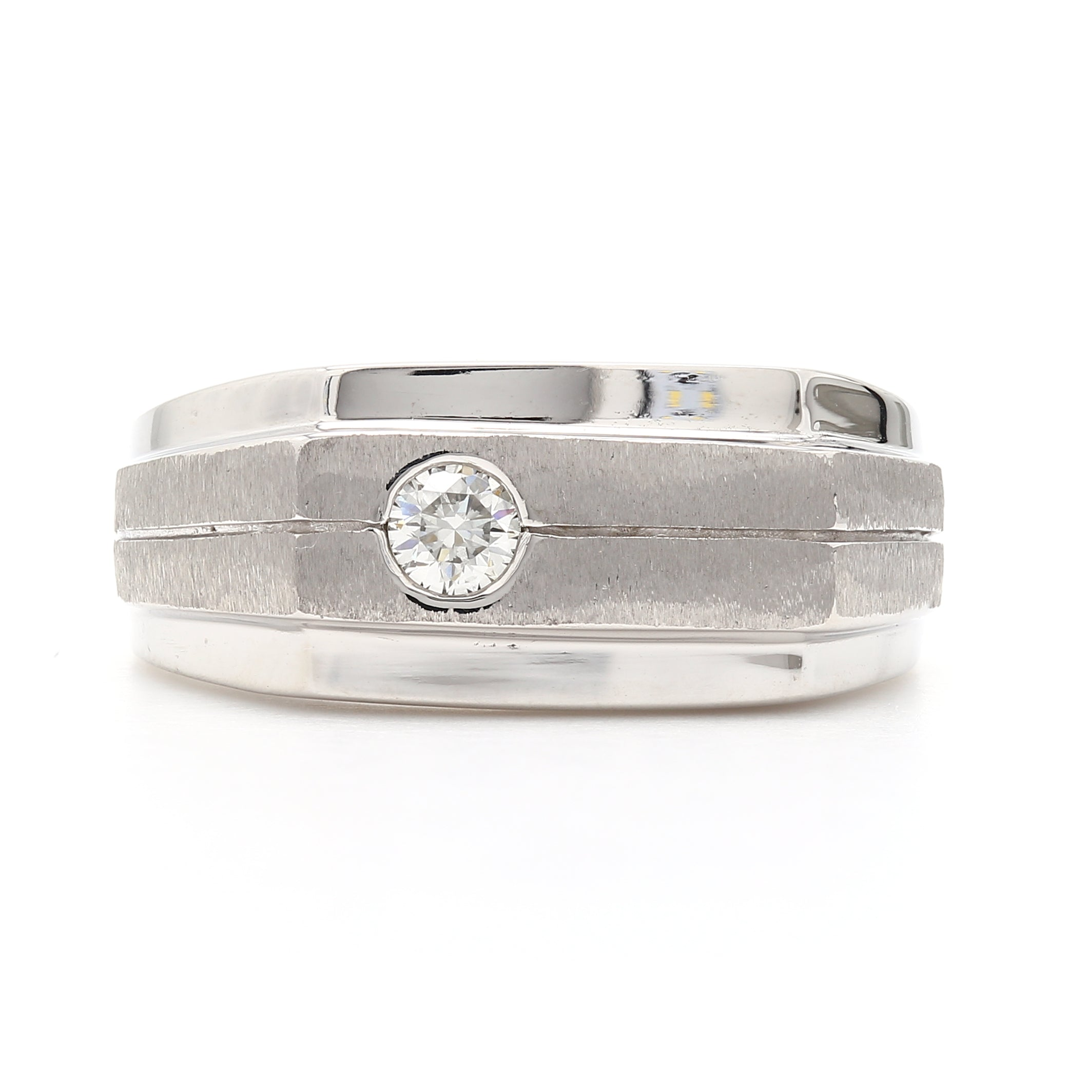 14Kt White Gold Gents 0.16CTTW Lab Grown Diamond Ring