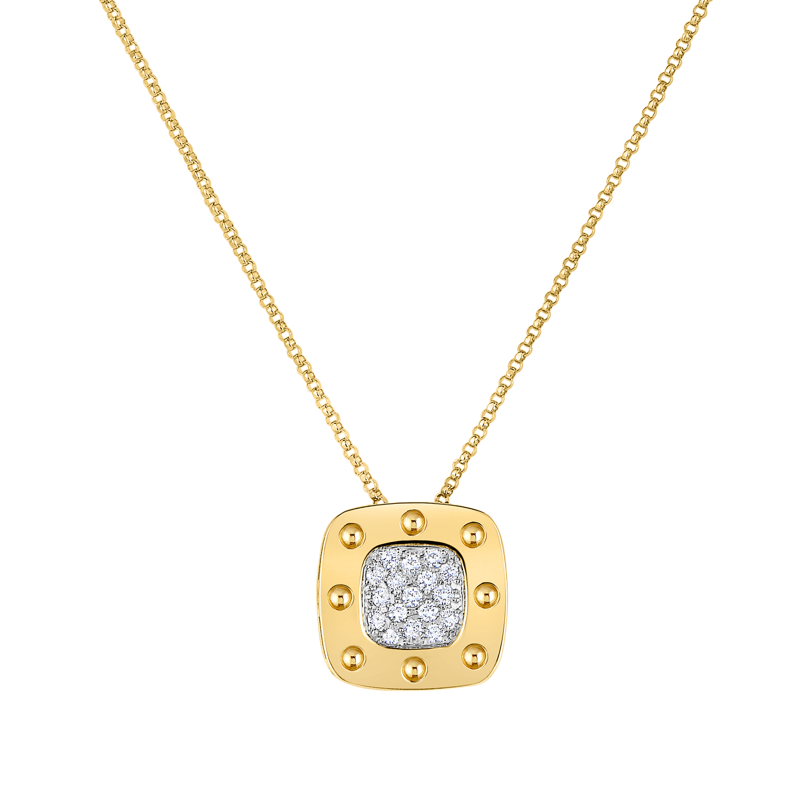 dsc diamond necklace square pave pendant